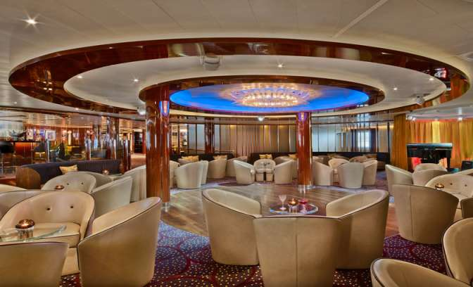 The club luxe clu aan boord van Seabourn Ovation